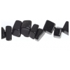 Semi-Precious Chips 6X8mm Black Stone